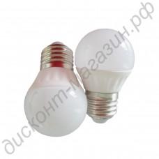 Светодиодная лампа (LED лампа) Е27, шар матовый
