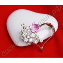Брошь Bridal Bridesmaid Rhinestone Heart