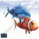 Летающая рыба на радиоуправлении (акула, рыба-клоун), наполненная гелием