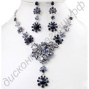 Гарнитур black necklace earring