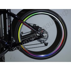 Светоотражающая наклейка на обод колеса