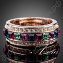 Кольцо Round Ring 18K Rose Gold Plated Multicolour SWA ELEMENTS Austrian Crystal