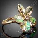 Кольцо Sunflower Adjustable Size Ring 18K Real Gold Plated Jonquil SWA ELEMENTS Austrian Crystal
