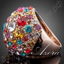 Кольцо Gorgeous 18K Rose Gold Plated Multicolour SWA ELEMENTS Austrian Crystal Ring