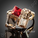 Кольцо Exclusive 18K Real Gold Plated Multicolour SWA ELEMENTS Austrian Crystal Ring