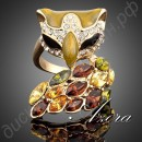Кольцо Eye Fox Ring 18K Real Gold Plated