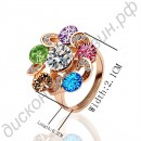 Кольцо Authentic Austrian crystal crystal ring 18 k platinum