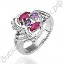 Кольцо «Сердечко» с турмалином