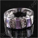 Шикарное кольцо с белым топазом и турмалином