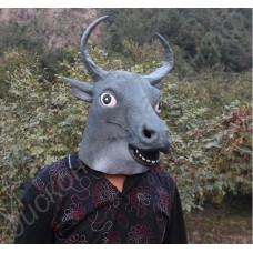 Маска быка (коровы, минотавра) латексная