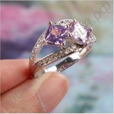 Кольцо с турмалином «Влюбленные»