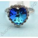 Кольцо «Сердце невесты» с голубым турмалином
