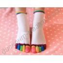 Женские носки «5 пальчиков» разноцветные