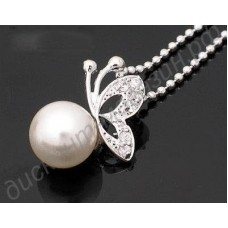 Подвеска Butterfly Pearl Gift Necklace Jewelry
