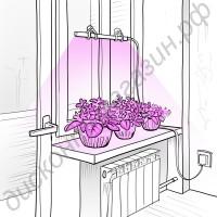 Ультратонкий фитосветильник «Альтаир» для растений на подоконнике, гарантийное обслуживание - 1 год