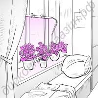 Фитосветильник светодиодный с присосками «Домашний садовод», гарантийное обслуживание - 1 год