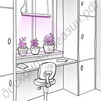 Мощная светодиодная фитолинейка  «Кастор» для рассады, цветов и аквариумных растений, гарантийное обслуживание - 1 год