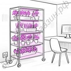 Система фитоосвещения стеллажей, шкафов для выращивания рассады и цветов «Хадар»