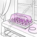Парничок для рассады с подсветкой на фитодиодах «Фитобонус», гарантийное обслуживание - 1 год