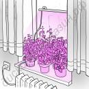 """Оконная светодиодная лампа для растений """"Васат"""" 30Вт, гарантийное обслуживание - 1 год"""